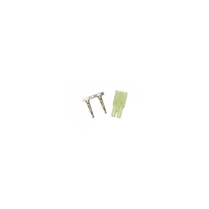 Plug, small, male part, female plug contact